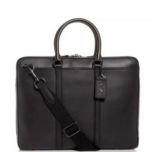 COACH Metropolitan Slim Briefcase in Black